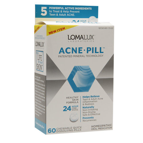 Loma Lux Homeopathic Medicine, Acne Pill, 60 Tablets