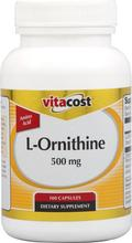Vitacost L-Ornithine - 500 mg -