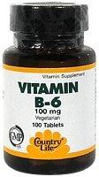 Country Life La vitamine B-6 100
