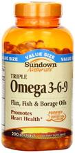 Sundown Naturals Triple OMEGA 3 -
