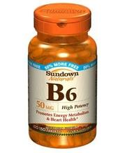 Vit B-6 comprimés 50 mg Sundown,