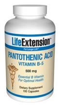 Acide pantothénique (B5) 500mg