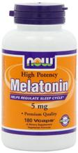 NOW Foods mélatonine 5mg Vcaps,