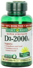 Bounty vitamine D-3 de la nature,
