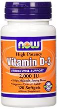 NOW Foods vitamine D-3, 2000 UI,