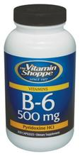 Vitamin Shoppe - B-6, 500 mg, 300