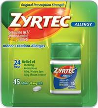 Zyrtec Allergy Tablets 45 ct (10