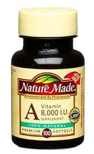 Nature Made Vitamine A, 8000 UI,