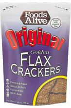Aliments vivants or lin Crackers,