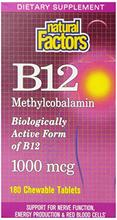 Natural Factors vitamine B12 Tabs,