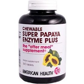 AMERICAN HEALTH Super Papaya Enzyme Plus Chewable 360 TAB