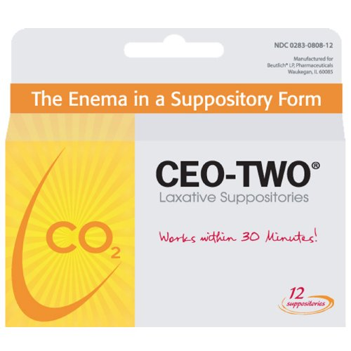 CEO Two laxative suppositories for occasional constipation - 12 ea