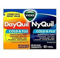 Dayquil/Nyquil Cold & Flu LiquiCaps - 72 CAPS ( 48 + 24 )