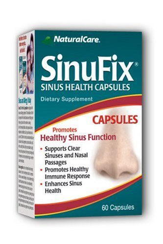 NaturalCare SinuFix Capsules, Promotes Healthy Sinus Function , 60 Count
