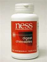 NESS Enzymes Digest Chewables 180 tabs