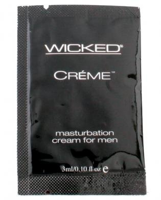 Wicked sensual care collection 0.1oz creme to liquid masturbation cream for men packette - creme (Package Of 2)