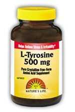 Nature Vie L-Tyrosine capsules, 500 mg, 100 Count