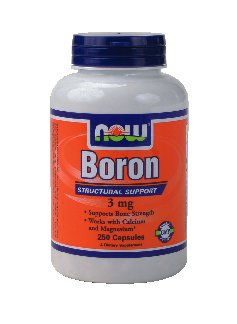 NOW Foods Boron, 3 mg, 250 Capsules (pack de 2)