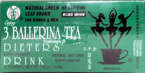 3 Ballerina tea (The Minceur) Ballerina the / 3 boites=54 sachets